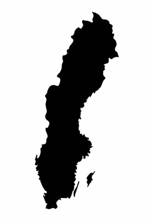 Sweden silhouette map 일러스트