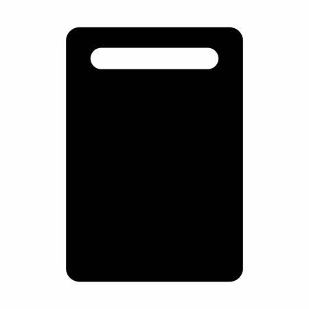 Cutting board dark silhouette isolated on white background Ilustração