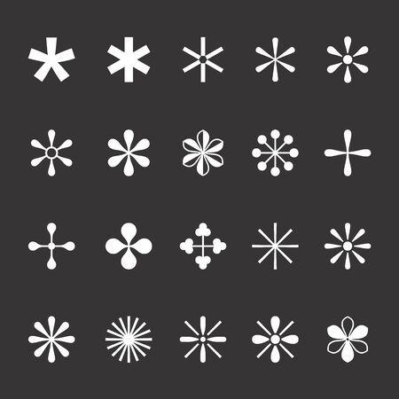A Set of asterisks on the dark background