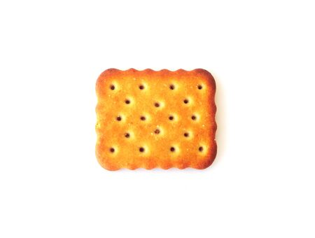 A Salty Cracker biscuit on the white