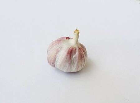 A single Garlic on the white background