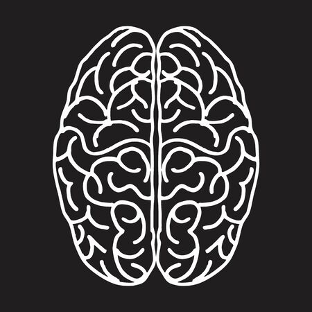 Brain freehand illustration