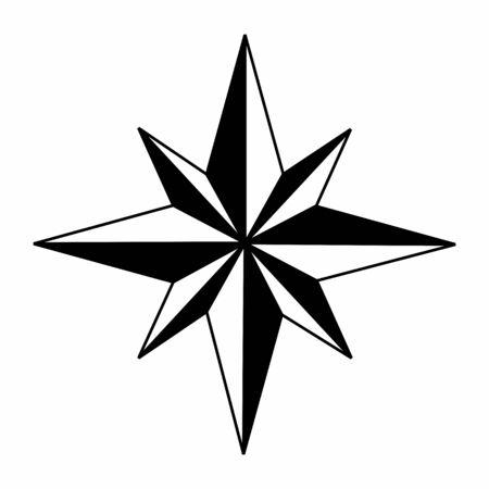 Wind rose symbol