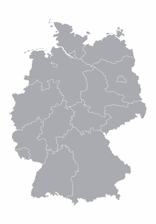 Gray Germany map