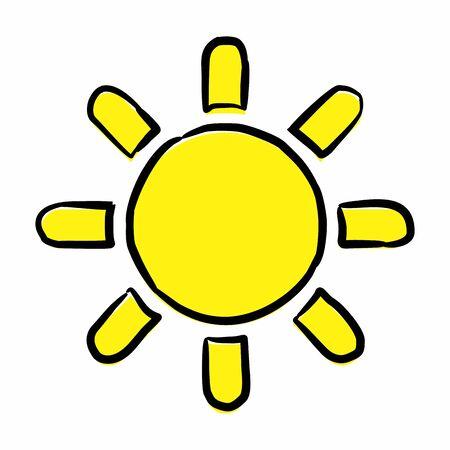 Sun freehand icon