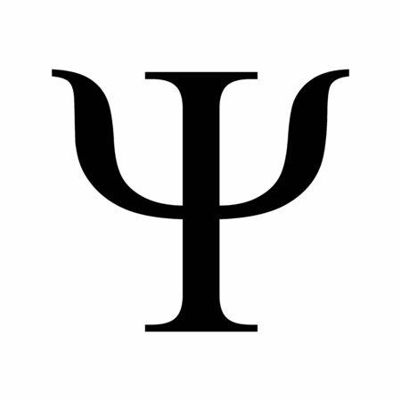 Psi greek letter Ilustração