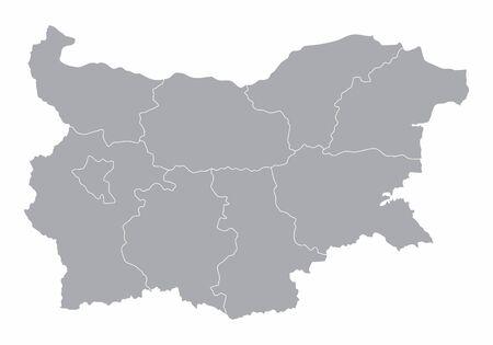 Bulgaria regions map