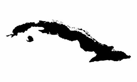 Cuba silhouette map Ilustração