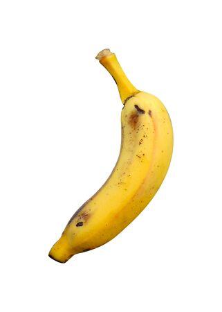 A Ripe banana isolated on white background