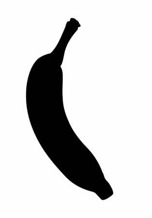 A banana silhouette Ilustração