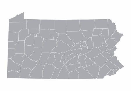 Map of Pennsylvania Ilustração