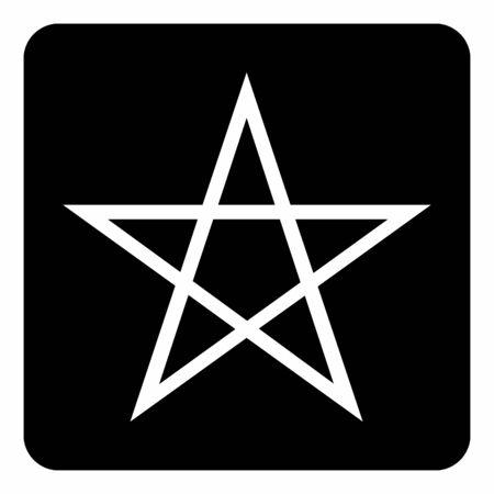 Five points star icon on the dark background