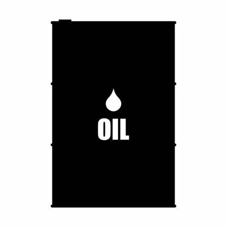 A black and white Oil barrel icon Ilustração