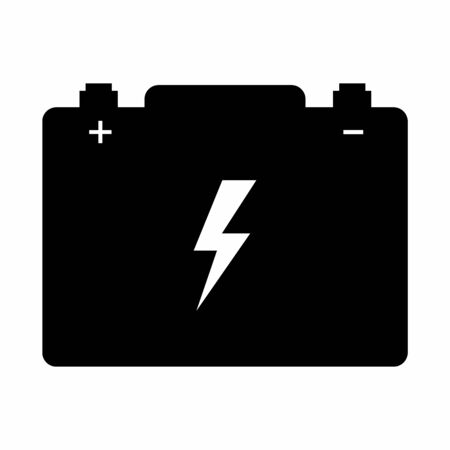 A black and white Car battery icon