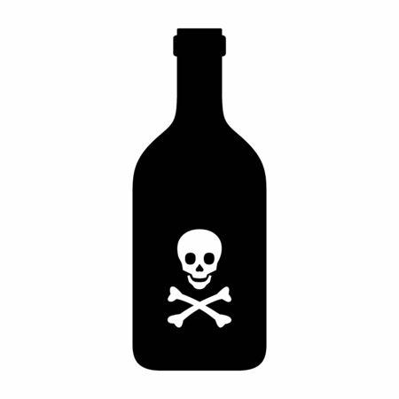 Poison bottle icon Ilustração