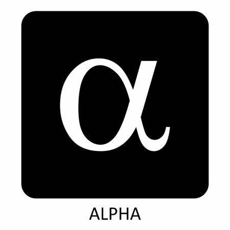 Alpha greek sign