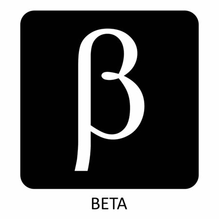Beta greek letter icon