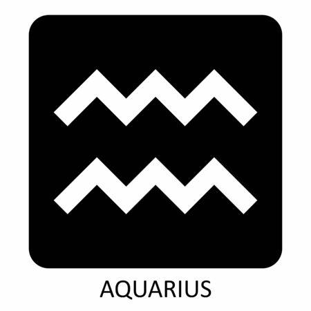 Aquarius zodiac sign Ilustração