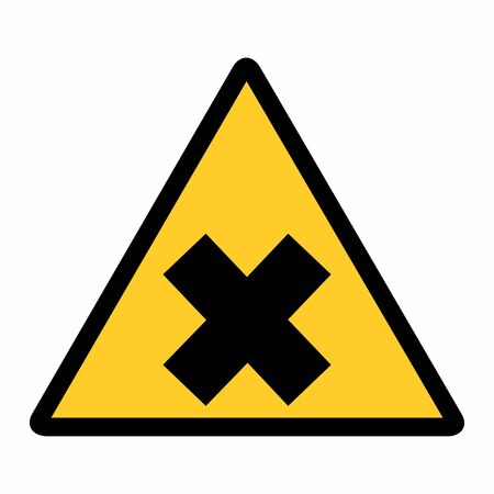 Irritant hazard sign 向量圖像