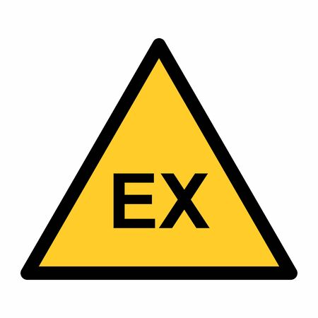 The Explosive Atmosphere area zone warning sign