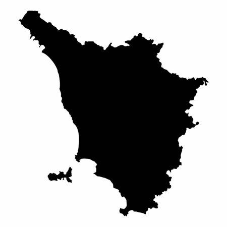 Tuscany dark silhouette map