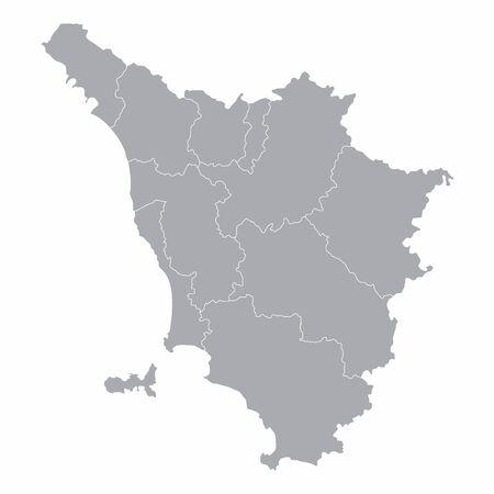 Tuscany administrative map Vettoriali