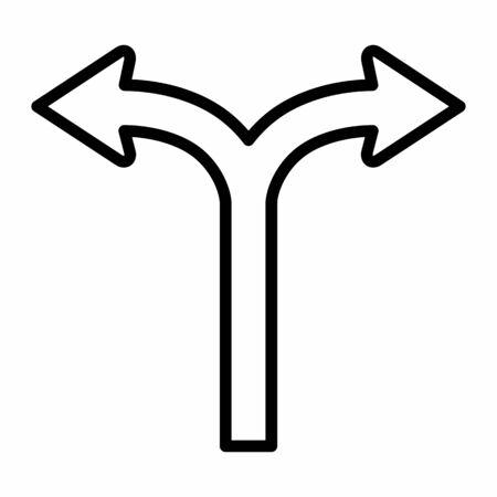 Bifurcation icon illustration