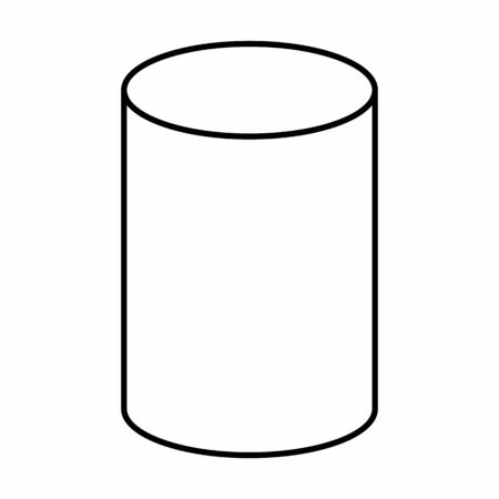 A Cylinder linear icon illustration on white background