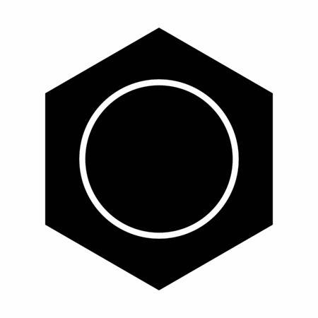 Benzene black icon illustration on white background  イラスト・ベクター素材