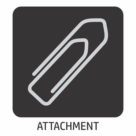 An Attachment icon illustration on dark background Illustration