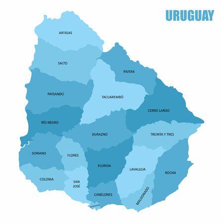 Uruguay regions map