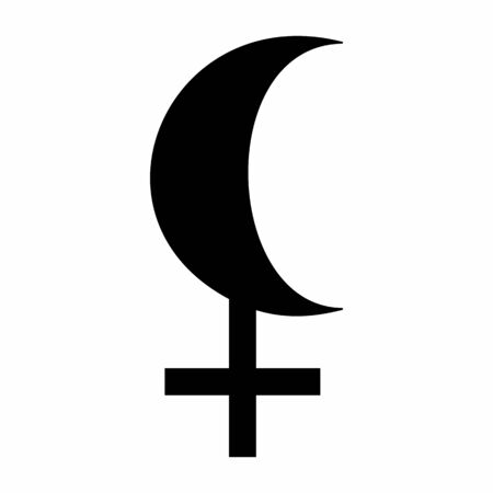 Black Moon Lilith astrology sign on white background