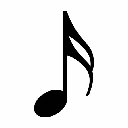 The musical Sixteenth note icon on white background