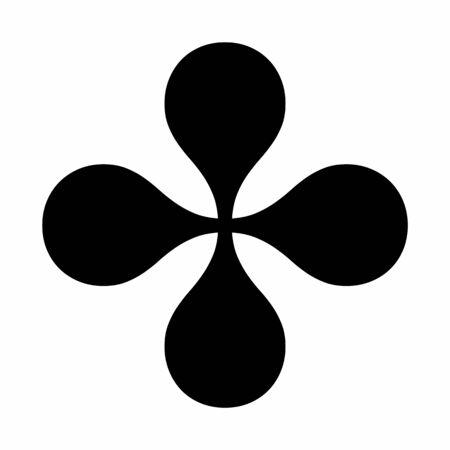Four Heavy Balloon-spoked asterisk icon on white background