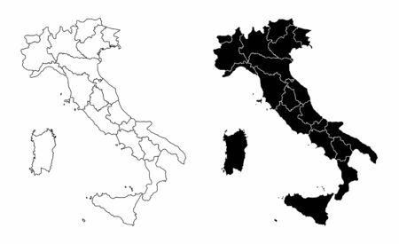 Italy regions maps