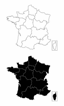France regions maps