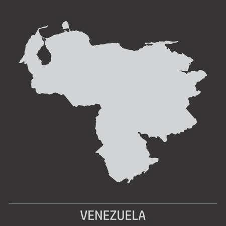 The Venezuela map icon on dark background