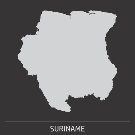 The Suriname map icon on dark background