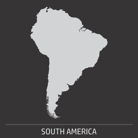The South America map icon on dark background