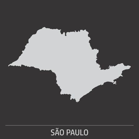 The Sao Paulo State map icon on dark background