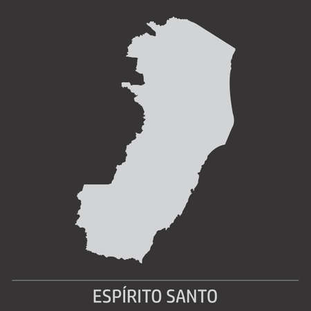 The Espirito Santo State map icon on dark background