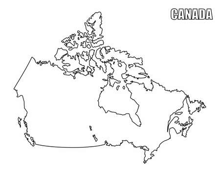 Canada outline map Ilustrace