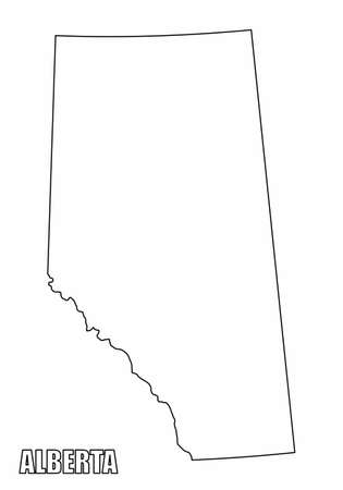 Alberta province outline map