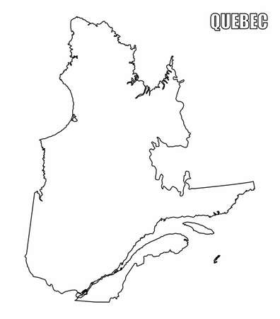 Quebec province outline map