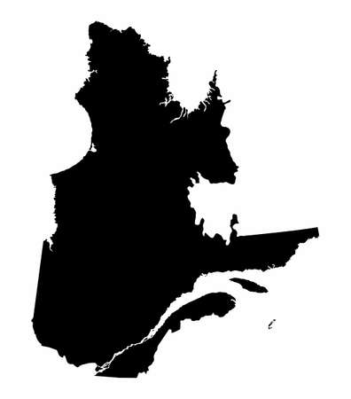 Quebec province dark silhouette map