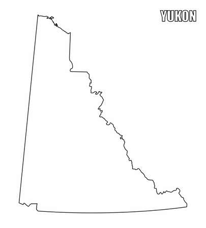 Yukon Territory outline map