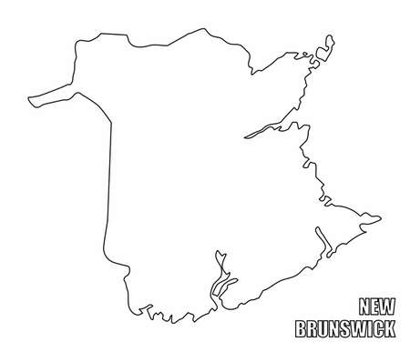 New Brunswick province outline map  イラスト・ベクター素材