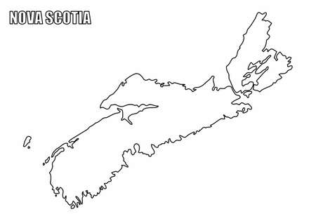 Nova Scotia province outline map  イラスト・ベクター素材