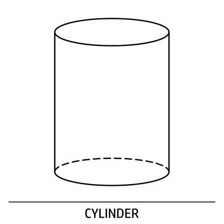 A Cylinder outline icon on white background