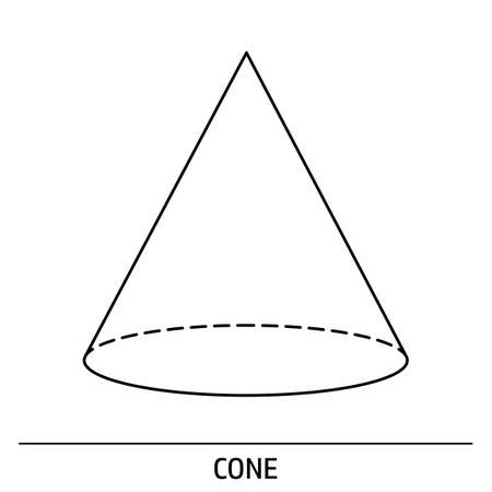A Cone outline icon on white background